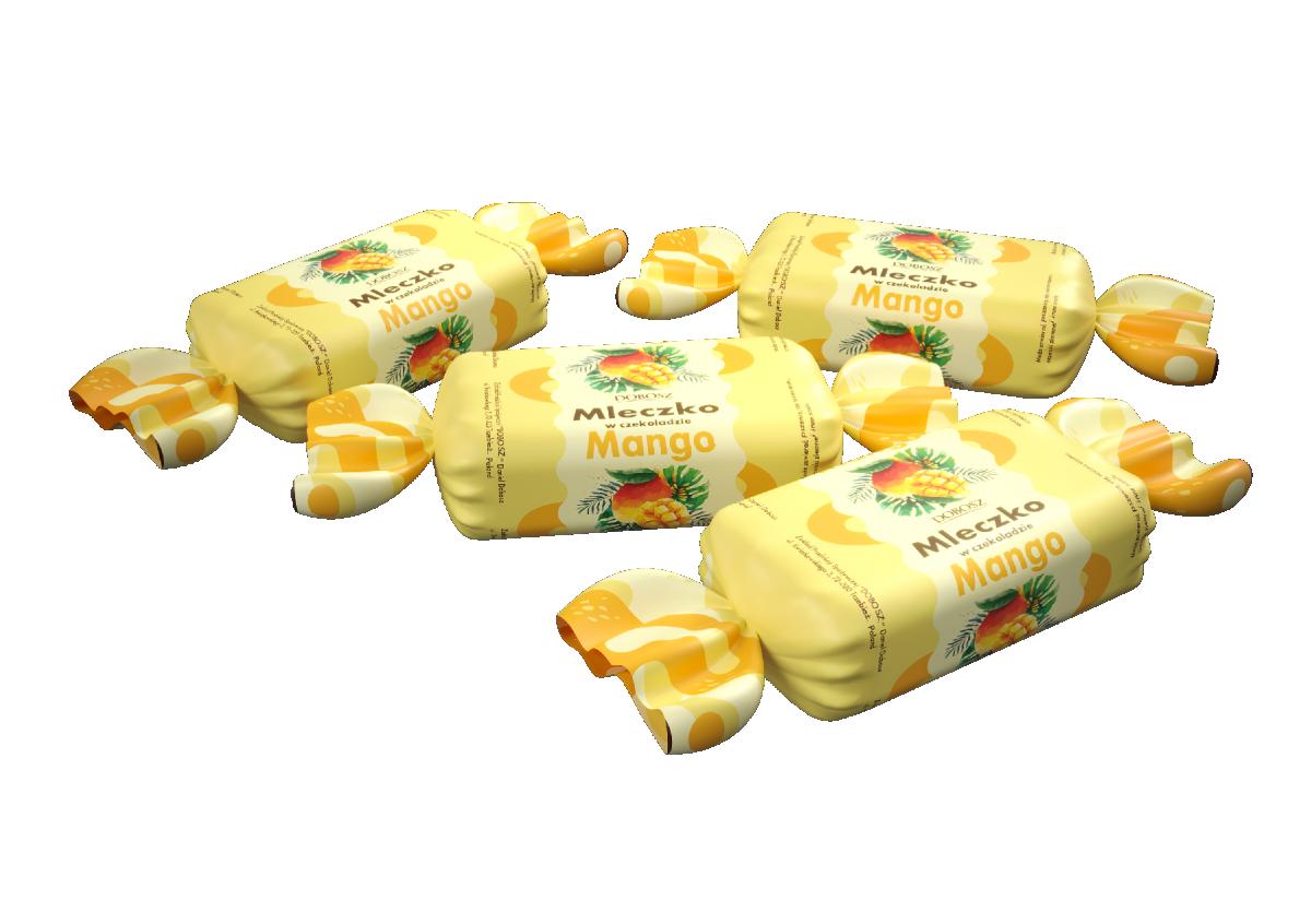 """КОНФЕТЫ """"МОЛОЧКО В ШОКОЛАДЕ"""" со вкусом манго"""